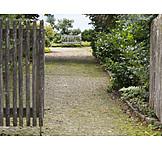 Garten, Eingang, Sitzbank