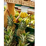 Pineapple, Fruit Shop, Bananas