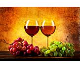 Wein, Weinglas, Weintrauben