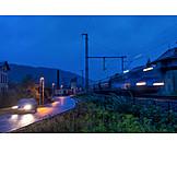 Verkehr, Pkw, Güterzug