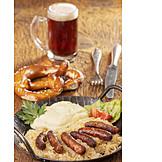 Lunch, Nuremberger hot dog