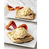 Speiseeis, Dessert, Waffel