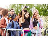 Friends, Music Festival, Selfie