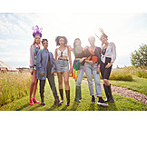 Fashion, Friends, Hippie, Group Picture