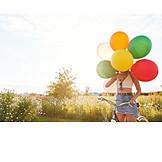 Sommer, Verstecken, Luftballons