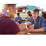 Eating, Summer, Festival, Friends