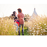 Couple, Happy, Summer, Camping