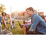 Leisure, Summer, Friends, Camping