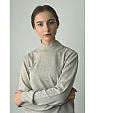 Portrait, Woman, Pensive