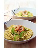 Spaghetti, Shrimp