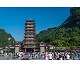 Entrance, Nature, Pagoda, Wulingyuan