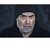 Man, Skeptical, Angry