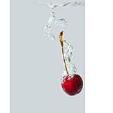 Wasser, Kirsche, Wasserblasen