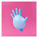 Hand, Balloon, Bloated