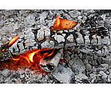 Flame, Fire, Glut, Wooden Charcoal