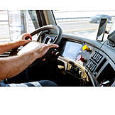 Steering wheel, Truck driver