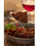 Rindfleisch, Fleischgericht, Gulasch