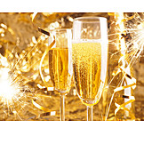 Sparkling, New Years Eve, Festive