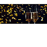 New Years Eve, Champagne, Confetti