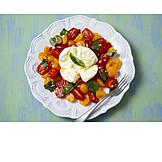 Salat, Vegetarisch, Italienische Küche, Caprese