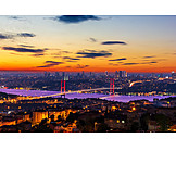 Bridge, Sunset, Istanbul