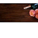 Valentine, Champagne, Roses