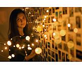 Mädchen, Zuhause, Lichtstimmung, Fotowand