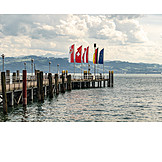 Flag, Bodensee, Jetty