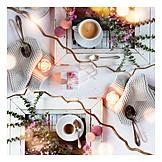 Geschenk, Muttertag, Kaffeetafel