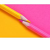 Yellow, Pink, Crayon, Crayon