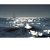 Meer, Segelschiff