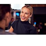 Business Woman, Bar Counter, Amuse