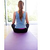 Yoga, Meditieren, Yogamatte