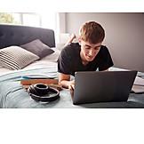 Freizeit, Laptop, Internet, Online