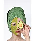 Hautpflege, Avocado, Gesichtsmaske