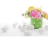 Dekoration, Blumenstrauß, Osterzeit