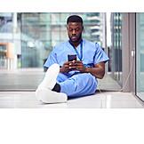 Mobile Communication, Break, Reading, Nurse