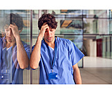 Exhausted, Pandemic, Nurse, Corona Virus