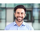 Businessman, Smiling, Portrait