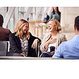 Laughing, Airport, Travelers