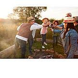 Celebrations, Campfire, Toast, Summer Evening