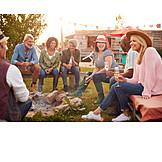 Communication, Campfire, Friends