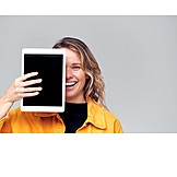 Woman, Digital, Tablet-pc