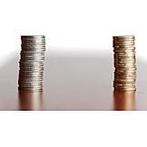 Euro, Coins, Savings