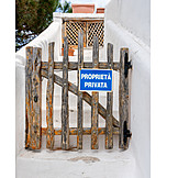 Entrance, Sardinia, Property, Private Property