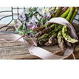 Still Life, Asparagus, Hydrangeas