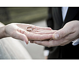 Marriage, Marry, Wedding Rings, Bridal Couple