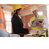 Construction Site, Meeting, Construction Manager, Architect