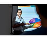 Businessman, Presentation, Pie Chart