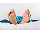 Sleeping, Barefoot, Feet, Covered